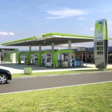 Steel Structure for Petrol Station Canopies Standing Pylon Advertising Sign