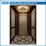 Otis Lift Gearless Machine Roomless Wooden Glass Mirror Stainless Steel Passenger Elevator in China