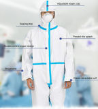 Cheap Single Use Non Woven Protective Clothing Hooded Disp