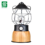 Dimmable Bamboo Lantern with Metal Hang