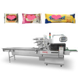 Biscuit/ Wafer/ Cookie/ Sliced Bread/ Chocolate Bar/ Moon Cake/ Bun/ Snack/ Small Food Automatic Multi-Function Pillow Packing Packaging Machine