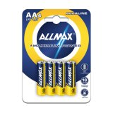 Allmax AA Maximum Power Alkaline Batteries Lr6 1.5V (B4-48 Count)