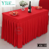Hotel Apartment Plain Dyed Table Skirt