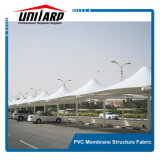 1250GSM PVC Car Parking Shade Roof Structure