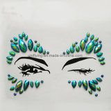 Face Body Jewel Custom Colorful Gems Strong Self Adhesive Rhinestone Jewelry Stickers