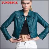 Fashion PU Jacket for Women Leisure Coat
