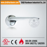 Solid Lever Handle on Round Rose