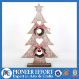 Wooden Christmas Tree Table Decoration with Garland