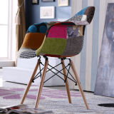 2/4 Retro Dining Chairs Leather Fabric Living Room Office Restaurant Side Chair