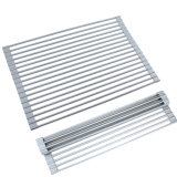 Wholesale Stainless Steel Silicone Roll up Dish Drying Rack