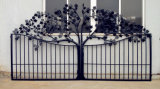 Wrought Automatic Sliding Fence Driveway Ornamental Decorative Iron Gate