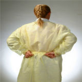 Single Use Polypropylene Medical Yellow Tie-Back Isolation Gown