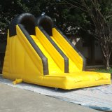 High Quality Inflatable Double Lane Slide with Climbing Wall
