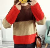 3-Color Splicing Knitted Sweater (BTQ214)