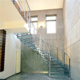 Arc Staircase High Quality Glass Curved Stairs Cheap Balustrade