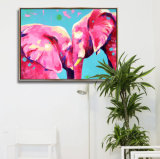 Wall Art Oil Canvas Painting Animal Picture with Frame for Home Decor