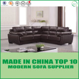 Modern China Manufactures Feather Cushion Leather Corner Sofa