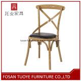 Cross X-Back Rattan Seat Chair