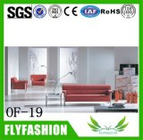 of-19 Modern Office Sofa Leather Durable Comfortable Homeused Upholstered Red Sofa