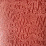 Embossed Oval Shaped Suede Microfiber PU Leather for Shoes Bags (HS-M1701)