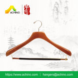 Wooden Coat Hangers with Non Slip Bar (WDS300)