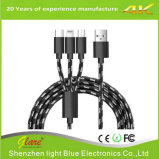 3 in 1 Nylon Braided Micro Universal USB Cable