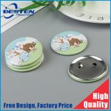 Custom Logo Round Shape Tin Button Badge with Safety Pin Cheap Pin Badges Metal Badge Set