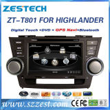 8 Inch Car GPS Navigation for Toyota Highlander with DVD Player
