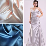 100% Polyester Elastic Jacquard Satin Fabric for Evening Dresses Fabric