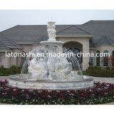 Design Granite Stone Carving Sculpture Water Fountain for Outdoor / Outside