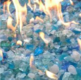 Diamond Glass Reflective Blue Fireglass