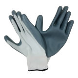 13G Polyster Glove Coated Nitrile Glove Safety Work Glove China