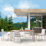 Teak Wood Table Outdoor Furniture Dining Set with Aluminium Chair