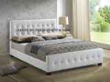 Morden Faux Leather Bed with Button
