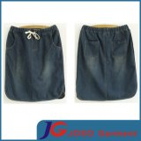 Elegant Straight Ladies Denim Skirt (JC2048)