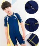 Hot Sale Kid Short Sleeve One-Piece Swimwear &Color Diving Suit