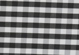 Black/White Checks Twill CVC Yarn Dyed Fabric Shirting