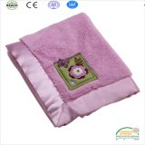 Wholesale 2017 New Coral Fleece Baby Blanket with Satin Triming