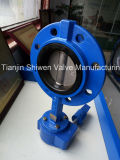 Single Flange Wafer Butterfly Valve with CF8 Disc No Pin