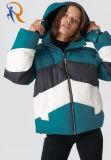 100% Cotton Block Padded Jacket Green Jacket Women Wholesale Rtm-238