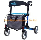 One Step Folded Aluminum Rollator for The Elderly and Disabled