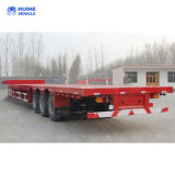 40FT 60t Flatbed Container Chassis Semi Trailer Truck Trailer Tractor Trailer Three Axles Extendable Flatbed Trailer