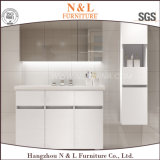 High Quality PVC Wood Grain Wholesale Bathroom Cabinets Vanity