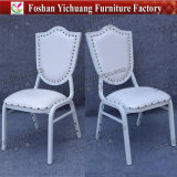 Morocco Popular Upholstered Stacking White Leather Aluminum Wedding Chair for Event and Banquet (YC-ZL162)