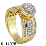 Imitation Jewelry 925 Sterling Silver Ring with Diamond