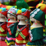 Rich China Embroidery Dolls for Home Decoration with Minority Beautiful Clothes Welcome to China