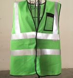 Reflective Safety Vest with PVC Pocket, Made of Mesh Fabric