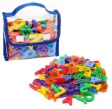 """Kids Toys 72 Magnetic Letters & Numbers (Tote) 1.25"""" - 1.75"""""""