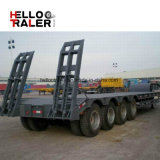 China Factory 50 Ton 3 Axle BPW Axle Low Bed Trailer for Sale