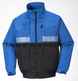 Men′s Workwear Jacket with Reflective Tapes